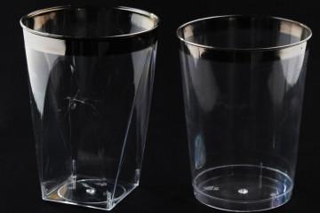 כוסות קריסטל פס כסף
